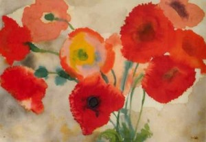emil nolde poppies watercolor