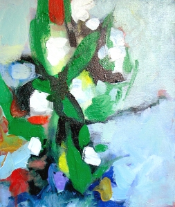 """Muguet de Mai"" acrylic on canvas, 2011, DSH"